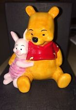 RARE VINTAGE COLLECTABLE DISNEY WINNIE THE POOH AND PIGLET PORCELAIN FIGURINE