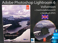 Adobe Photoshop Lightroom 6 Vollversion Englisch Box + DVD, Handbuch Win/Mac NEU