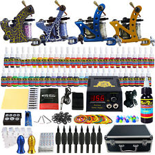 Solong Tattoo Kit 4 Machine Guns 54 Color Inks Needles Power Supply Set TK453