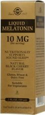 Solgar Liquid Melatonin 10 mg Natural Black Cherry Flavor 2 oz
