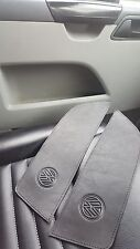 BLACK Leather/BLK stitch SHELF INSERTS x2. VW T5.1 TRANSPORTER,CAMPER- 09'onward
