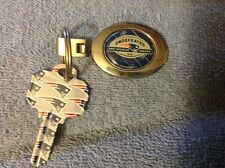 a13fa768c2e New England Patriots 2007 undefeated season key chain with uncut New England  key