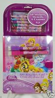 Disney Princess Stickers Stencil Draw Dry Erase Notepad Set Travel Book 3+