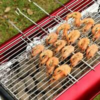 10pcs Long Barbecue Skewer Camping Tool Roasting Fork Outdoor Holder charm