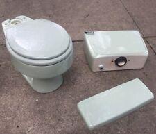 Vintage 1970's American Standard  Mint Green Toilet 4049 Round Bowl CELERY ?