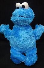 "Cookie Monster Blue White Sesame Street Hasbro Soft Plush 9"" Toy 2010 Lovey"
