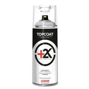 Topcoat+2k, spray trasparente bicomponente non removibile - 400 ml - Lucido