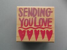 HERO ARTS RUBBER STAMPS BIG BOLD LOVE NEW wood STAMP