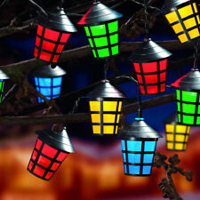 10 led christmas lantern lights multi coloured mains plug indoor outdoor 10led