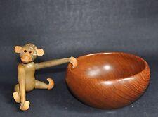 Wiggers Denmark I Vintage Teak Wood Obstschale Anbiete Bowl I Mid Century Design