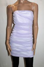 ef Brand Women's Lilac Ruched Strapless Bodycon Dress Size L BNWT #TO101