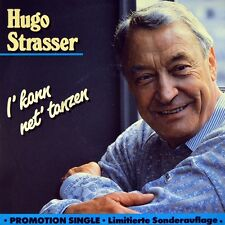 "7"" HUGO STRASSER I kann net tanzen (Vokal)/ Du fragst mich EMI Promo-Single 1989"