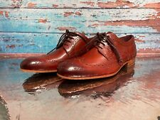 New size 9 Ted Baker London Brogue Cherry Wing Cap x Derby leather Shoes  $235