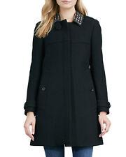 Burberry Brit Leather-Studded-Collar Coat (US/8,UK/10) $1,250+