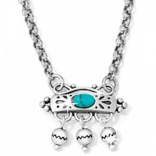 NWT Brighton PRAIRIE Turquoise Howlite Silver Necklace MSRP $54