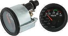 Voltmeter 24 Volt 52mm Black Bezel  Van Truck Bus Boat Analogue Volt Meter