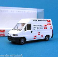 Busch H0 47302 FIAT DUCATO Kasten Busch Spielwaren Lieferwagen OVP HO 1:87 box