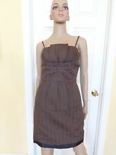 MAX & CLEO brown party dress size 2 new $148