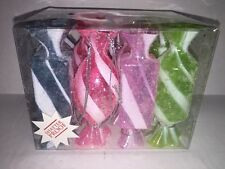 Set of 12 Christmas Pastel Candy Sweets Treats Shatterproof Ornaments - DEFECT