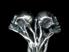 Design Ring Silber 925 Totenkopf Gothic Biker Rocker Double Skull Alchemy