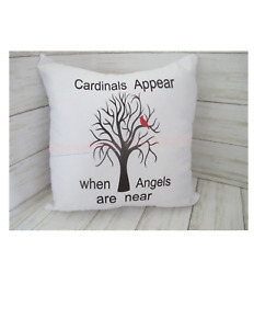 Cardinal Pillow Cover Only Brand New  Choose From (White Or Oatmeal Color)
