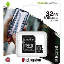 Kingston 32GB Micro SD SDHC MicroSD 32G 32 GB Canvas Select Plus Memory Card