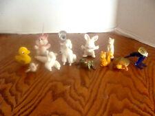 Lot Of Ceramic, Glass, Plastic, Fuzzy,Rubber Animals-Frog,Turtle,Walru s,Dogs,Etc