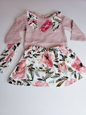 Baby girl Toddler clothes 12-18 months shirt, skirt & headband
