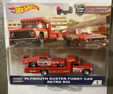 "Tom ""The Mongoose"" McEwen Hot Wheels PLYMOUTH DUSTER FUNNY CAR RETRO RIG"