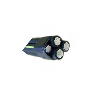 160' 4 AWG 3C + 4 Striped Neutral XLP Aluminum Quadruplex Secondary URD Wire