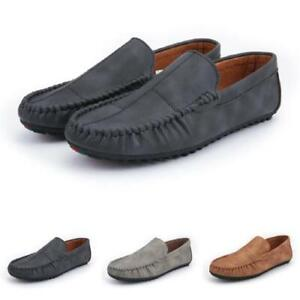 New Mens Pumps Soft Comfy Driving Moccasins Faux Leather Slip on Loafers Shoes D