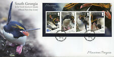 South Georgia & Sandwich Is 2017 FDC Macaroni Penguins WWF 4v M/S Birds Stamps