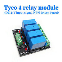 (US) OEG DC 24V 4 Channel Relay Module Four panels Driver Board Module NPN