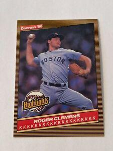 Roger Clemens 1986 Donruss Highlights Card #5 Boston Red Sox