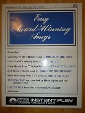 EZ PLAY ... Easy Instant Play #82 Easy Award Winning Songs