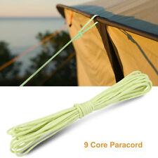Glow in the Dark Luminous Paracord Parachute Cord Lanyard Rope 9 Strands Core SA