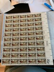 SC# 1551 Currier & Ives Christmas Commorative 10 CenStamp t Mint Sheet M/NH BCV