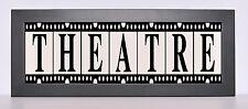 Theatre TV Game Room Sign Light - Classic Nostalgic Light Box Frame w/ remote