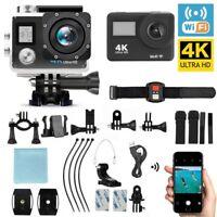 4K Full HD Action Sports Camera Wifi Waterproof DV DVR Camcorder Go Pro Remote
