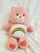 "2003 Care Bears 13"" Cheer Bear Talking Plush Stuffed Rainbow Pink Tested Works"
