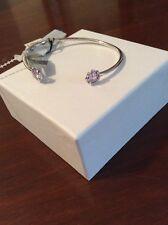 $146 Judith Jack Sterling Silver Purple  Marcasite Stone Cuff Bracelet May 99