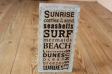SHABBY CHIC BEACH THEMED FREESTANDING SIGN WITH SEASIDE PHRASES