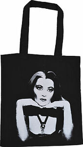 LILY LILLY MUNSTER BLACK TOTE BAG B-MOVIE VINTAGE HORROR CULT GOTH 100% COTTON
