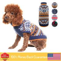 Christmas Dog Sweater Winter Warm Dog Knitsweater Christmas Style Dog Kit Coat