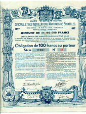 S.A. du CANAL et des INSTALLATIONS MARITIMES de BRUXELLES (1897)
