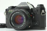 【Exe+++++】 Canon AE-1 Program 35mm Black SLR & New FD NFD 50mm f/1.8 Lens Japan