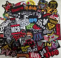 100 Pcs Lot Bulk Music Band Punk Rock Heavy Metal Iron on Sew Embroidered Patch