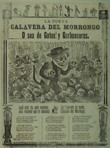 Jose Guadalupe Posada The new Morrongo calavera Giclee Canvas Print  Poster