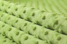 Weicher Samt Stoff Minky Cuddle Dots Noppen Meterware 1lfm 1,5m breit grün