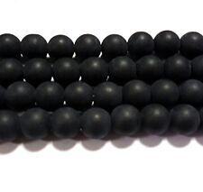 Glasperlen 100 Stück 8x6 mm anthrazit black Struktur  Optik Perlen Oval 5008